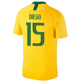 BRAZIL MEN'S HOME JERSEY WORLD CUP RUSSIA 2018 DIEGO #15