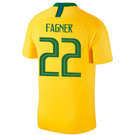 BRAZIL MEN'S HOME JERSEY WORLD CUP RUSSIA 2018 FAGNER #22