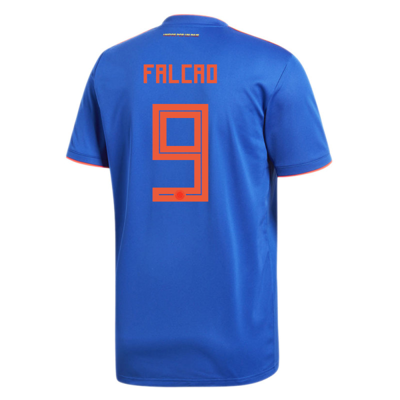 COLOMBIA OFFICIAL MEN'S AWAY SOCCER JERSEY WORLD CUP RUSSIA 2018 FALCAO #9