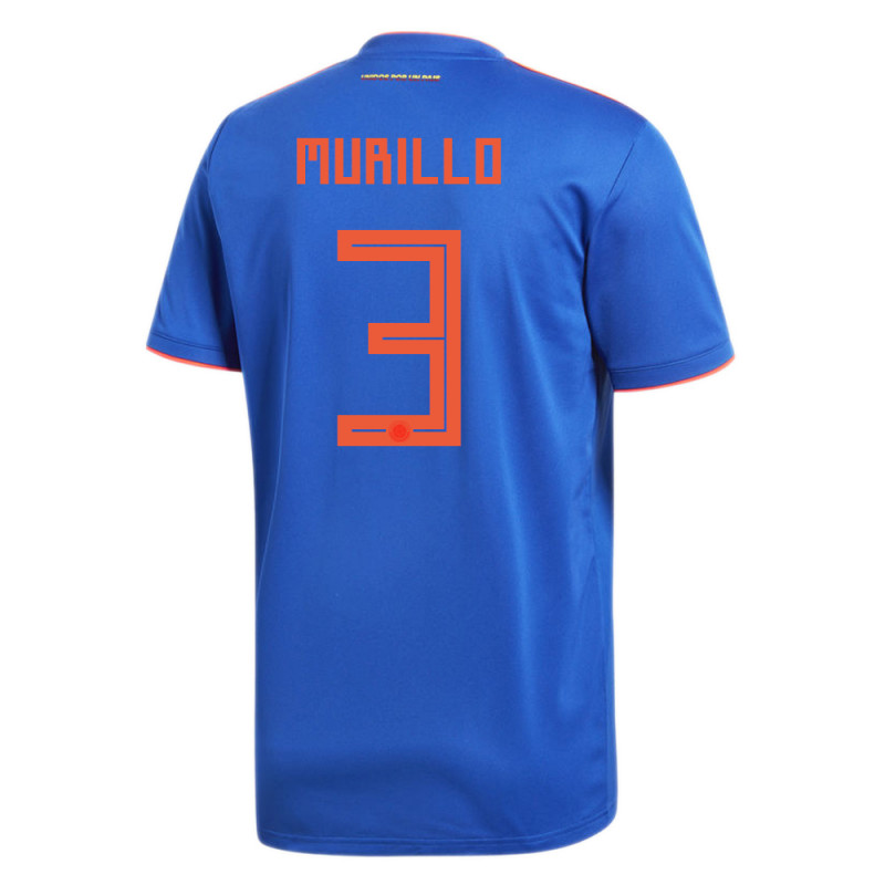 COLOMBIA OFFICIAL MEN'S AWAY SOCCER JERSEY WORLD CUP RUSSIA 2018 MURILLO #3
