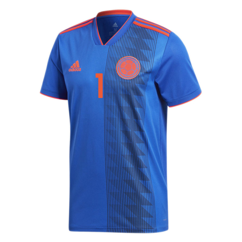 COLOMBIA OFFICIAL MEN'S AWAY SOCCER JERSEY WORLD CUP RUSSIA 2018 HIGUITA #1