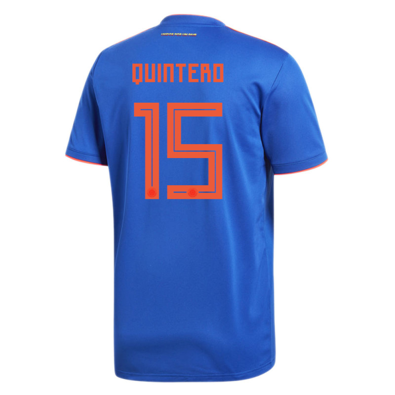 COLOMBIA OFFICIAL MEN'S AWAY SOCCER JERSEY WORLD CUP RUSSIA 2018 QUINTERO #15
