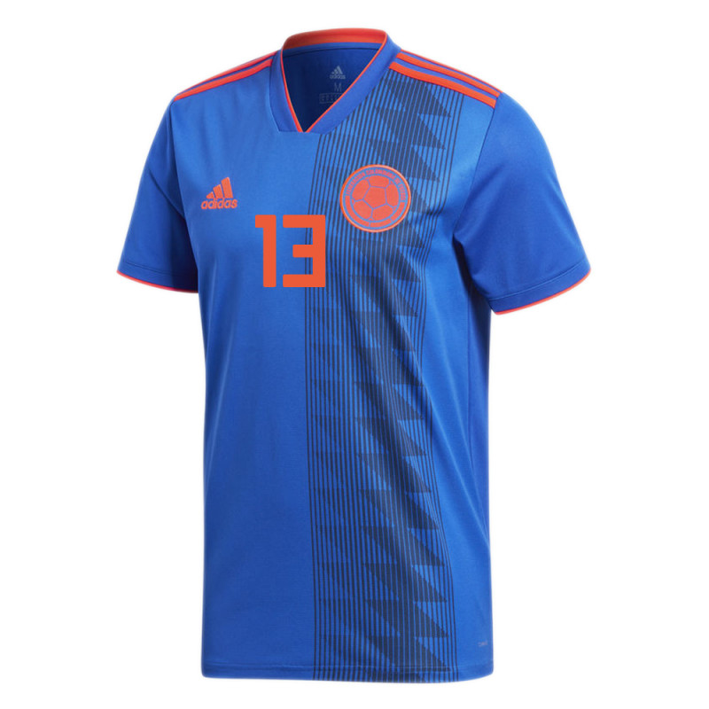 COLOMBIA OFFICIAL MEN'S AWAY SOCCER JERSEY WORLD CUP RUSSIA 2018 YERRY #13