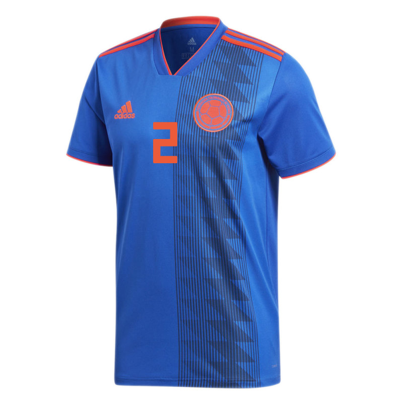 COLOMBIA OFFICIAL MEN'S AWAY SOCCER JERSEY WORLD CUP RUSSIA 2018 C. ZAPATA #2