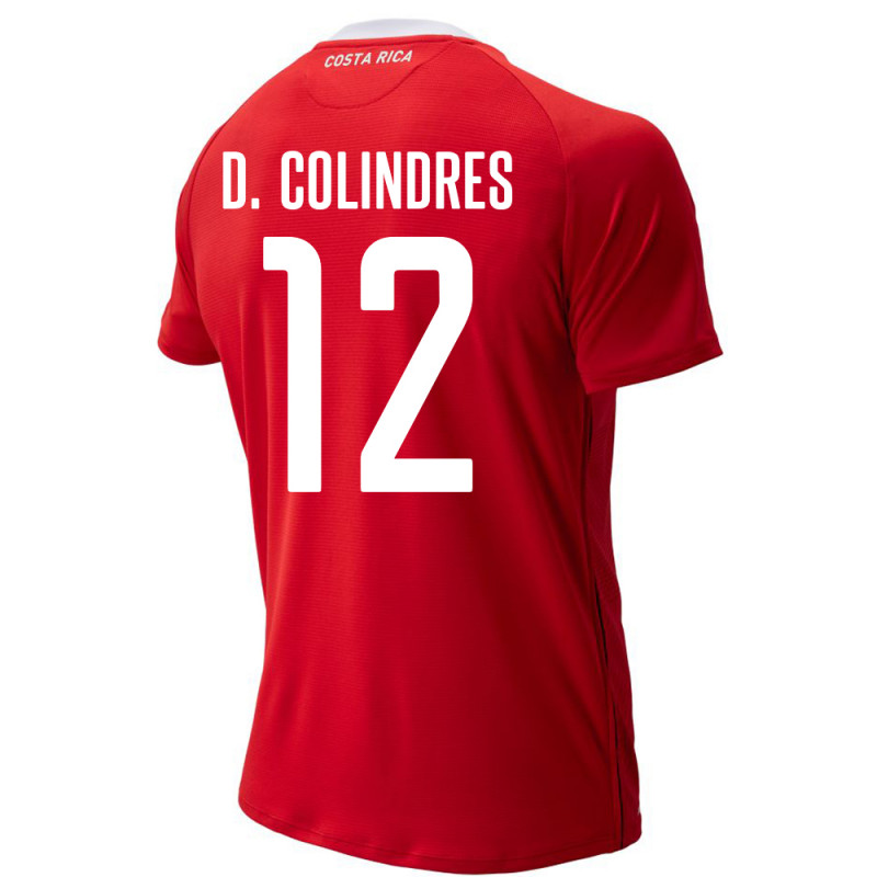 COSTA RICA MEN'S HOME JERSEY WORLD CUP RUSSIA 2018 D. COLINDRES #12