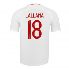ENGLAND MEN'S HOME JERSEY WORLD CUP RUSSIA 2018 LALLANA #18