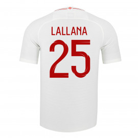 ENGLAND MEN'S HOME JERSEY WORLD CUP RUSSIA 2018 LALLANA #25