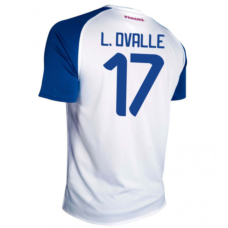 PANAMA AWAY MEN'S JERSEY WORLD CUP RUSSIA 2018 L. OVALLE #17