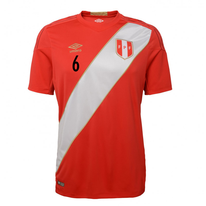 PERU OFFICIAL MEN'S AWAY SOCCER JERSEY WORLD CUP RUSSIA 2018 TRAUCO #6