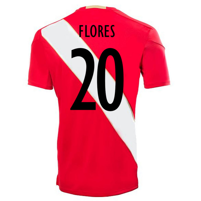 PERU OFFICIAL MEN'S AWAY SOCCER JERSEY WORLD CUP RUSSIA 2018 FLORES #20