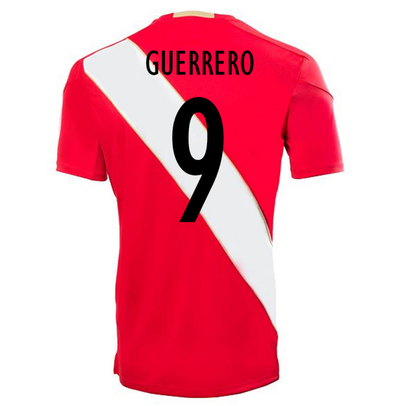 4f05bf54e78 PERU OFFICIAL MEN'S AWAY SOCCER JERSEY WORLD CUP RUSSIA 2018 GUERRERO #9