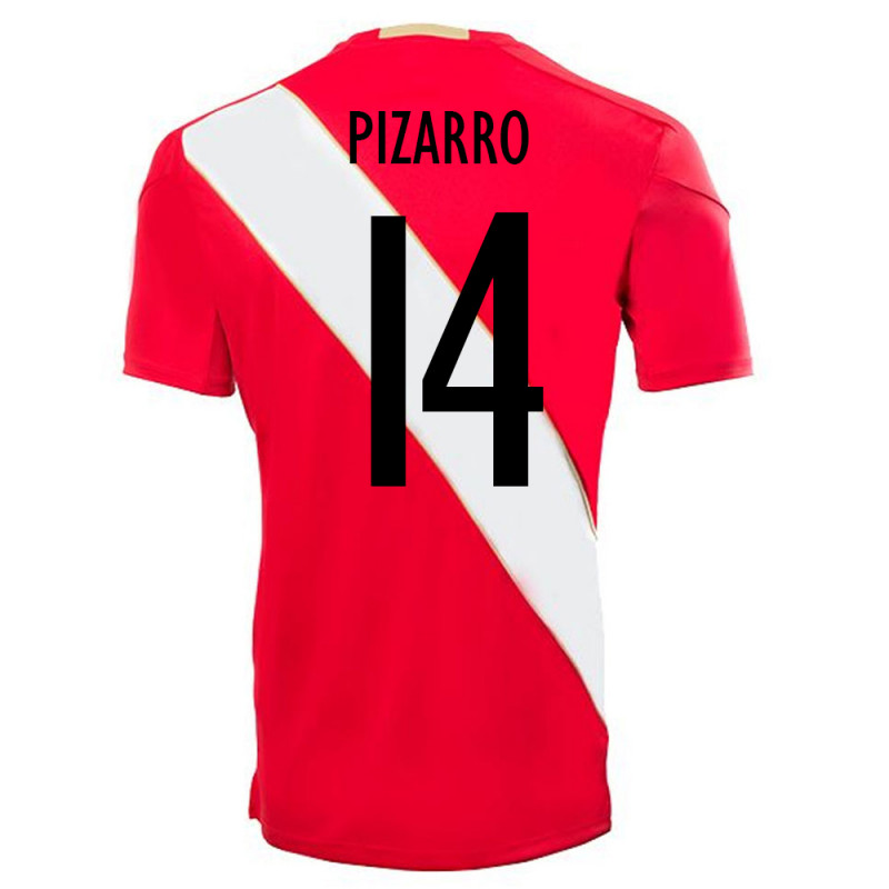 PERU OFFICIAL MEN'S AWAY SOCCER JERSEY WORLD CUP RUSSIA 2018 PIZARRO #14