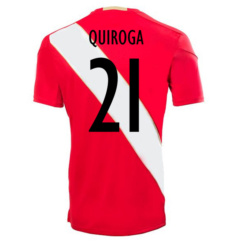 PERU OFFICIAL MEN'S AWAY SOCCER JERSEY WORLD CUP RUSSIA 2018 QUIROGA #21