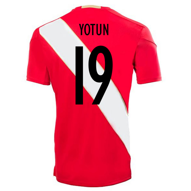 PERU OFFICIAL MEN'S AWAY SOCCER JERSEY WORLD CUP RUSSIA 2018 YOTUN #19
