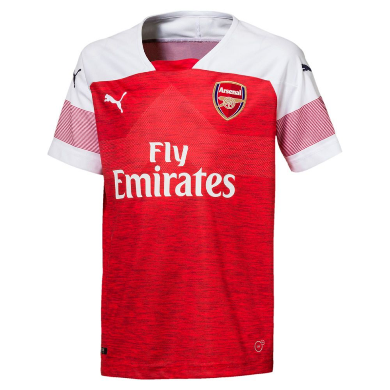 ARSENAL FC HOME SHIRT REPLICA SS KIDS WI, RED 18/19