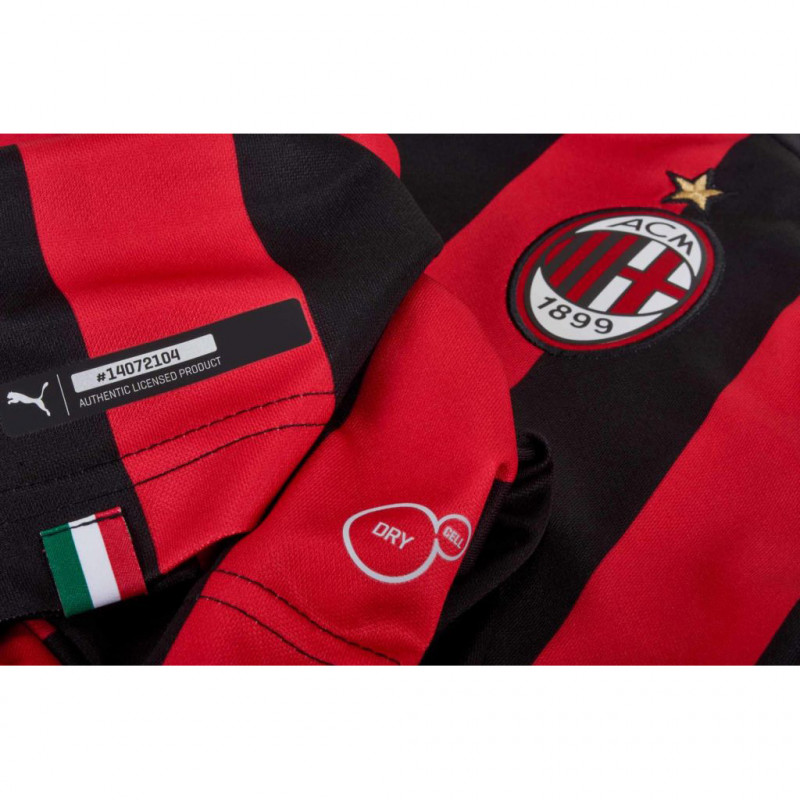 AC MILAN HOME SHIRT REPLICA SS KIDS WITH, RED 18/19