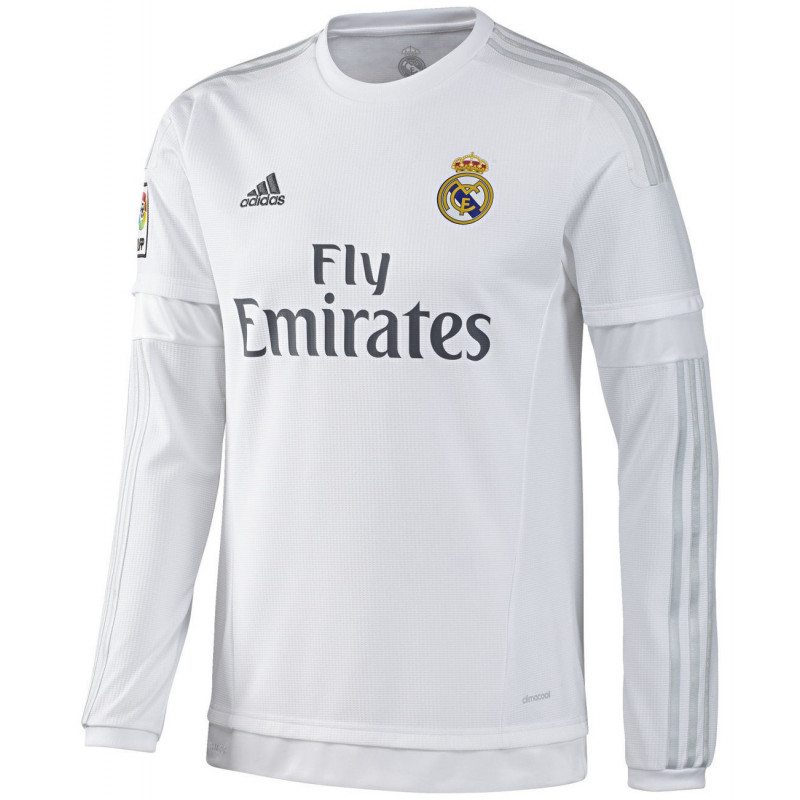 best service f3c74 d9975 REAL MADRID LONG SLEEVE HOME JERSEY 2015/16