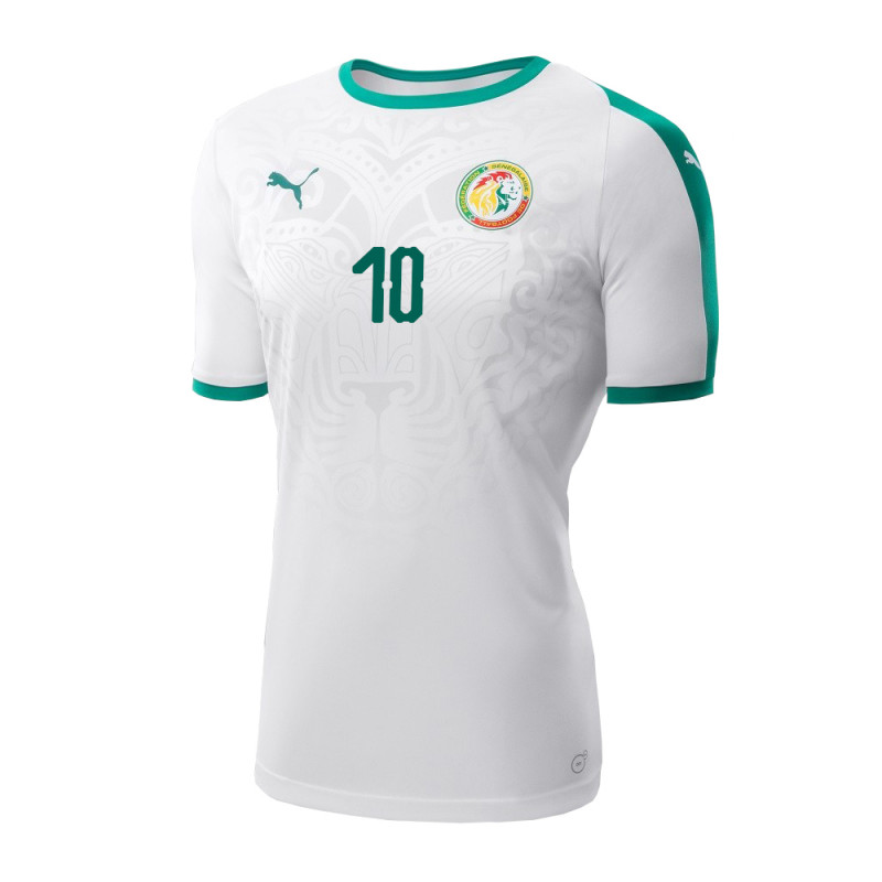 ... SENEGAL MEN S HOME JERSEY WORLD CUP RUSSIA 2018 (WHITE) MANE  10 829885823