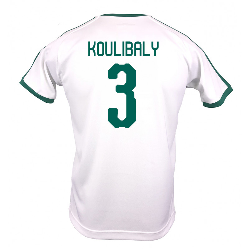 SENEGAL MEN'S HOME JERSEY WORLD CUP RUSSIA 2018 (WHITE) KOULIBALY #3