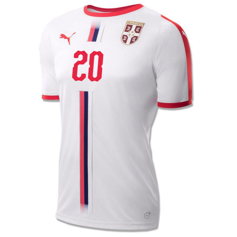SERBIA MEN'S AWAY JERSEY WORLD CUP RUSSIA 2018 SERGEJ #20