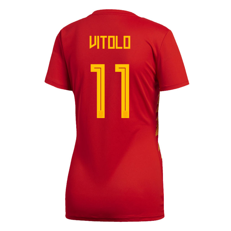 SPAIN WOMEN'S HOME JERSEY WORLD CUP RUSSIA 2018 VITOLO #11