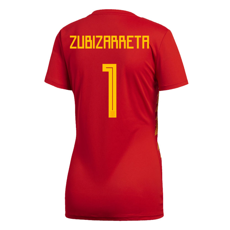 SPAIN WOMEN'S HOME JERSEY WORLD CUP RUSSIA 2018 ZUBIZARRETA #1