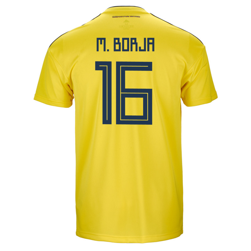 ac8c7d39a4d Colombia Official Men s Home Soccer Jersey World Cup Russia 2018 M. Borja   16