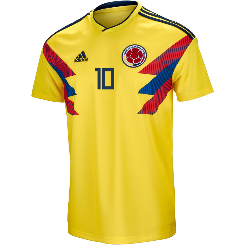1e472bb7977 Colombia Official Men's Home Soccer Jersey World Cup Russia 2018 Valderrama  #10